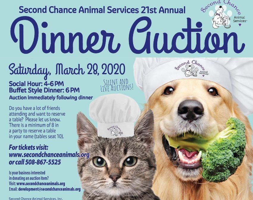 Animal Shelter Dinner Auction Flyer